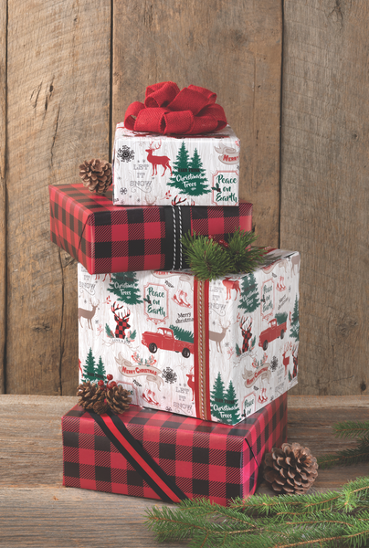 Holiday Lodge Reversible Roll Wrap