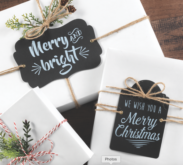 Vignette Gift Tags Set of 12 with Jute Twine