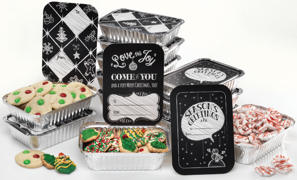 Holiday Slate Foil Tins - Set of 12*