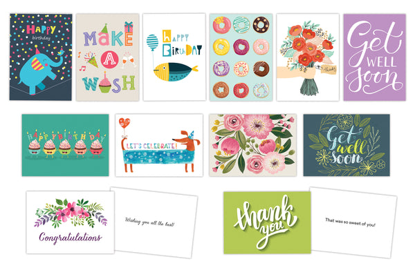 All Occasion Greeting Cards - Set of 12