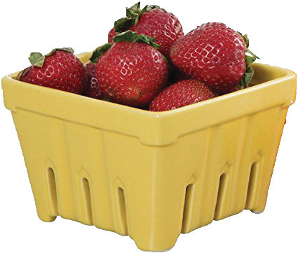 Ceramic Fruit Basket & Strainer