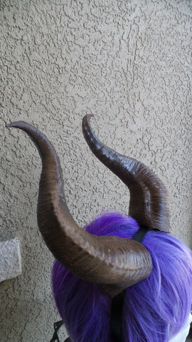 Amazing Young Maleficent Premium Cosplay Horns Headdress