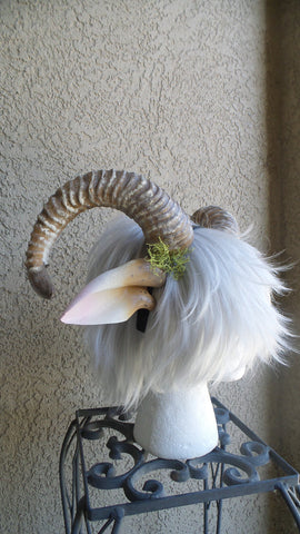 NEW ARRIVAL RAM horns headband 3D printed cosplay comicon fantasy horns with ears option wow large - Mud And Majesty