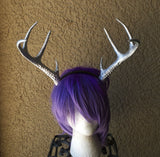 NEW ARRIVAL! Realistic Christmas Doe /silver gold Deer Antlers Horns  3D Printed (Ultra Light Weight Plastic) Reindeer Antlers comic-con - Mud And Majesty