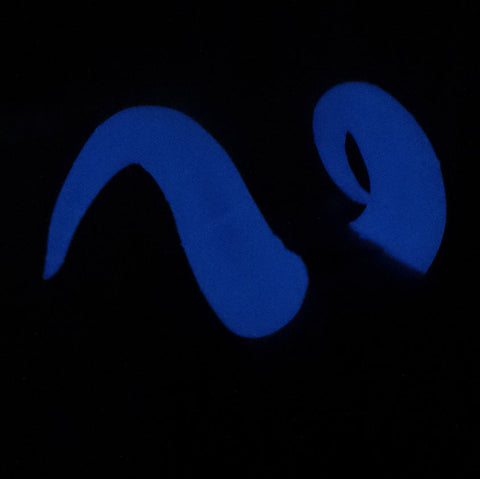 Glow in the Dark Ox Ram Fantasy Cosplay Horns Horned Headband Blue glow - Mud And Majesty