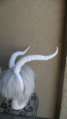 Zootopia inspired Madam Gazelle horns gazelle headband larp comic-con cosplay horned headband - Mud And Majesty