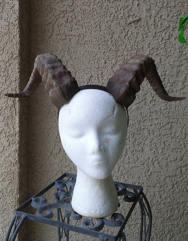 New Arrival:  Beast Grand Costume Cosplay ULTRA LIGHT WEIGHT Curled Beastly fur suit Horns - Mud And Majesty
