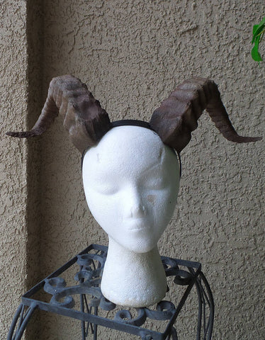 New Arrival:  Beast Grand Costume Cosplay ULTRA LIGHT WEIGHT Curled Beastly Horns - Mud And Majesty
