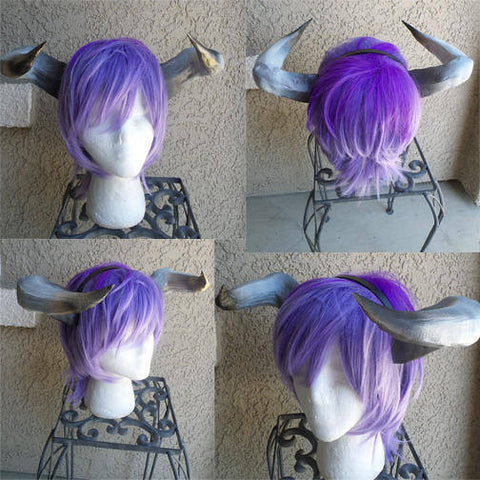 NEW ARRIVAL  Jin Kazama inspired horns headband 3D printed cosplay comicon Tekken inspired fantasy horns - Mud And Majesty
