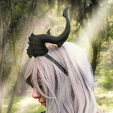 Deanerys Dragon inspired 3d printed horns on headband DIY costume addition dragon comicon fantasy  lizzard horns - Mud And Majesty