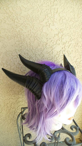 Deanerys Dragon inspired 3d printed Double set horns on headband DIY costume addition dragon ears four horned beast set lizzard horns - Mud And Majesty