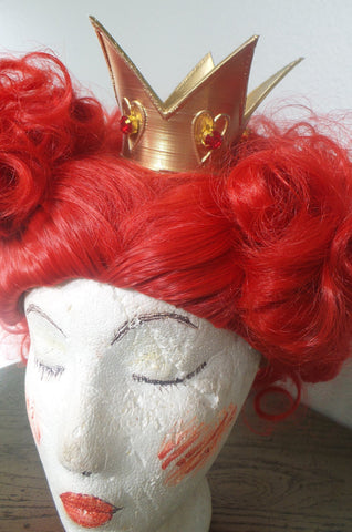 Best! New Arrival! The Red Queen crown Alice in wonderland disney bonding costume crown 3d printed - Mud And Majesty