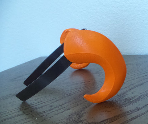 NEW ARRIVAL Small Bull Matador horns headband 3D printed cosplay comicon fantasy horns  option wow curly orange horns overlord - Mud And Majesty