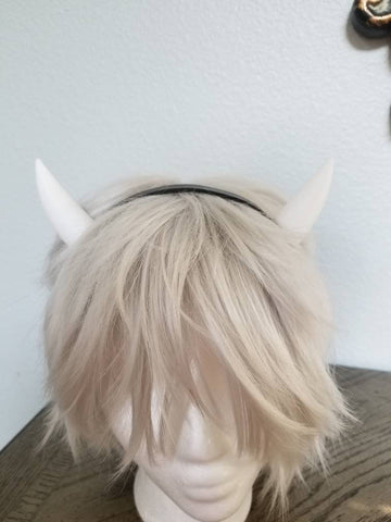 NEW ARRIVAL Small mini Alice Angel inspired goat horns headband 3D printed cosplay comicon fantasy horns  option wow anime pointy horns - Mud And Majesty
