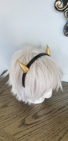 Dragon inspired 3d printed lightweight set horns on headband DIY costume addition dragon ears horned beast set lizzard horns paintable set - Mud And Majesty