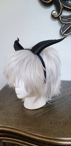 Fantasy Dragon Snake Dragon 3d printed horns on headband DIY costume addition dragon comicon fantasy  lizzard horns - Mud And Majesty