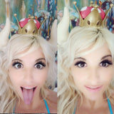 Supercrown lady Bowsette inspired horns and crown set  nintendo Matador-Bull-horns-headband comic-con cosplay horns gaming costume cow horns - Mud And Majesty