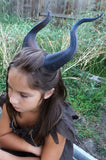 BEST SELLING! Classic Young Maleficent Inspired Horns  3D Printed  choose your color comic-con - Mud And Majesty