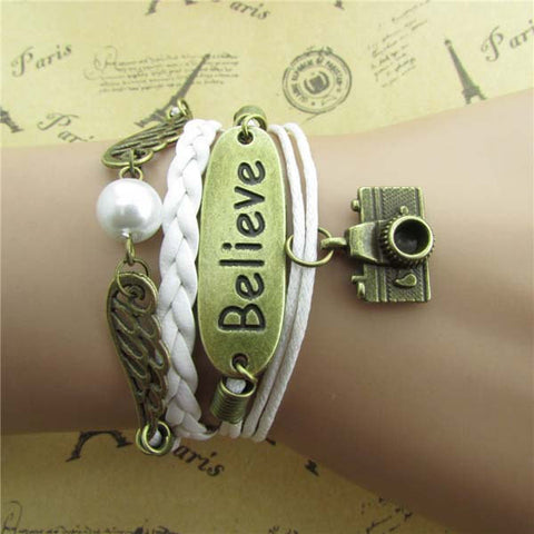 Custom order for 10 believe bracelets for Shiryn Thein - Mud And Majesty