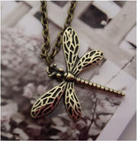 Vintage dragonfly pendant necklace women jewelry local US seller - Mud And Majesty