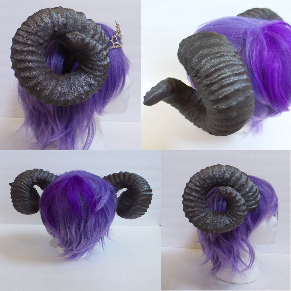 New Arrival Ram Horns Headband 3d Printed Cosplay Comicon Authentic