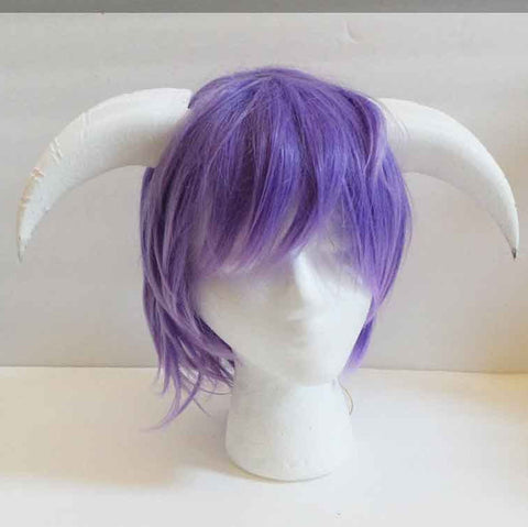 Goat fantasy 3d printed horns multi mounting and color options horns on headband black white gray - Mud And Majesty