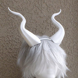 BEST SELLING! Classic Young Maleficent Inspired Horns  3D Printed  White Horns comic-con - Mud And Majesty