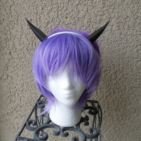 "Duman Deuman Dewman from phantasy star Japanese mmo rpg Sega. 3d printed 4"" Anime horns*ears black headband game cosplay - Mud And Majesty"
