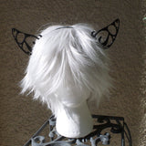 Large Butterfly Filigree Kitty Ears wolf ears fox  fairy  woodland fairy  headband 3D print (Ultra Light Weight Plastic) comic-con - Mud And Majesty