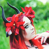 Matador-Bull-horns-Ombre-Black Taurus  horned headband with animal ears comic-con cosplay horns - Mud And Majesty