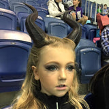 "NEWLY IMPROVED! Young Maleficent Inspired 9.5"" Horns  3D Printed Suitable for kids and adults comic-con - Mud And Majesty"