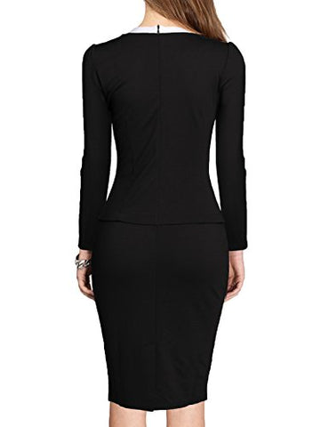 Bodycon One-Piece Women's Colorblock Wear to Work Business Party Dress