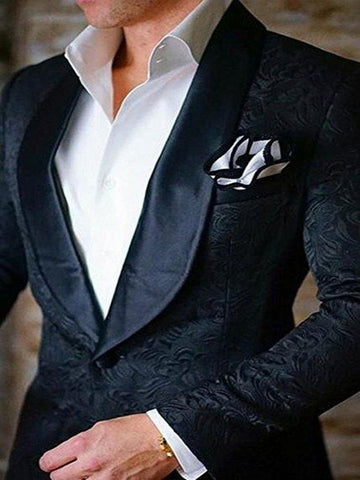 2019 Valentina San Soucie Hand Made New Fashion Black Shawl Lapel 2 Piece Men's Suit