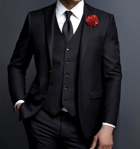 2019 New Design Custom Made Slim Fit 3 Piece Single Breasted Tuxedo suit