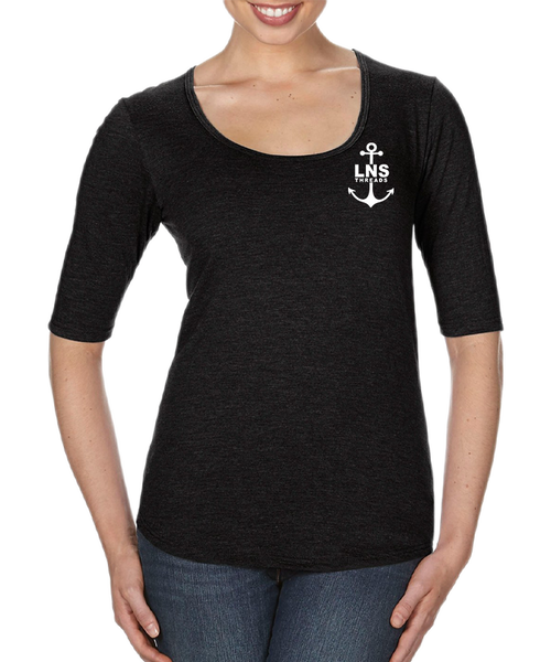 Women's *Anchor* Scoop Neck Tee