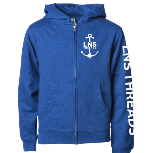 Youth *Anchor* Zip Up Hoodie
