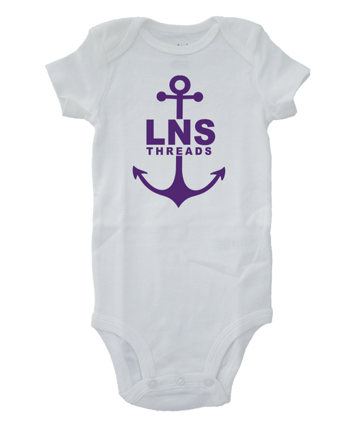 "Girl's ""Anchor"" Baby Onesie"