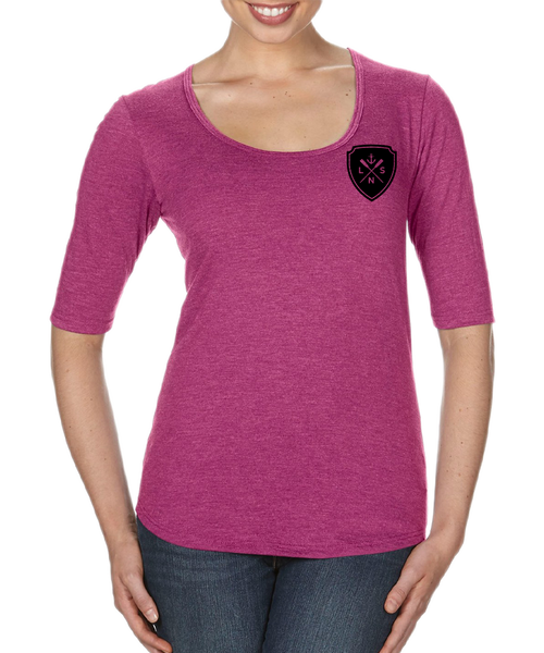 Women's *Shield* Scoop Neck Tee