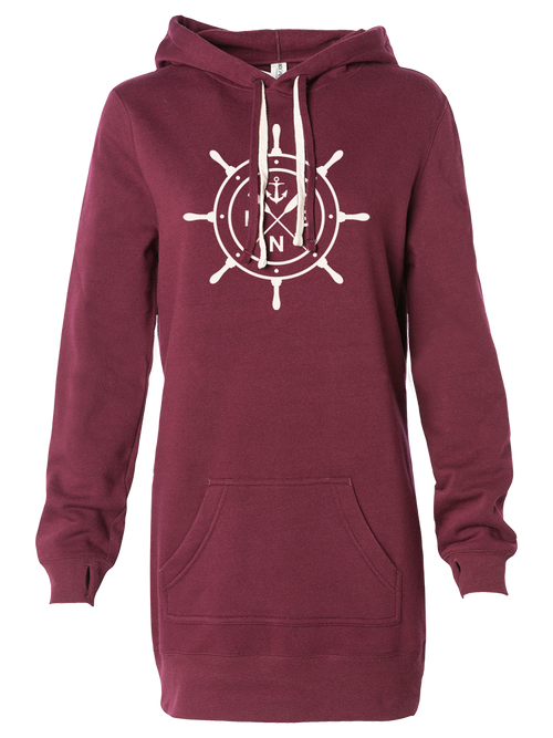 Women's *Ship's Wheel* Hooded Pullover Dress
