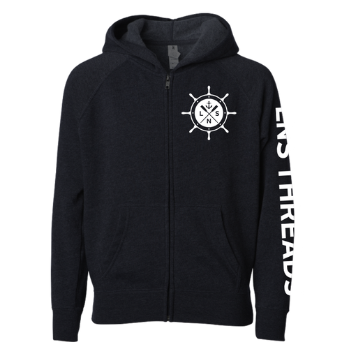 Youth *Ship's Wheel* Zip Up Hoodie