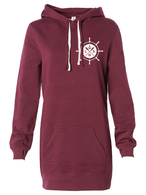 Women's *Ship's Wheel V2* Hooded Pullover Dress