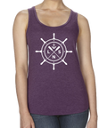 "Women's ""Ship's Wheel"" Tank Top"