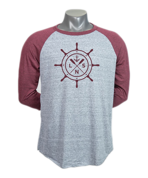 Unisex *Ship's Wheel* Baseball Tee