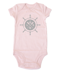 "Girl's ""Ship's Wheel"" Baby Onesie"