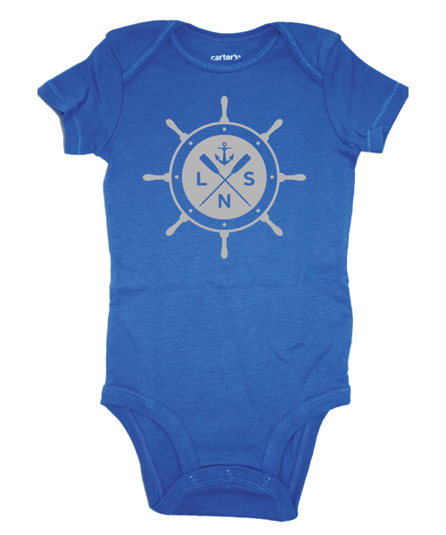 "Boy's ""Ship's Wheel"" Baby Onesie"