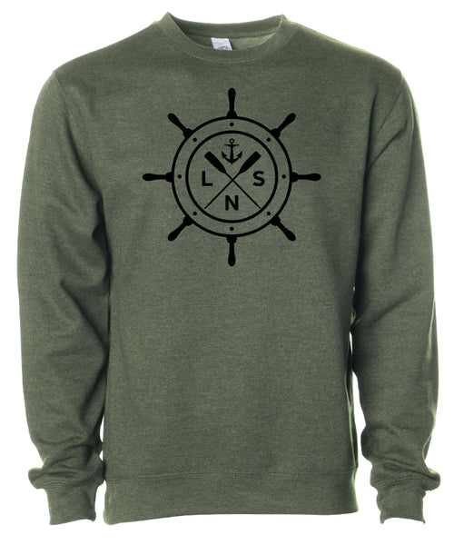 "Men's Heavyweight ""Ship's Wheel"" Crewneck"
