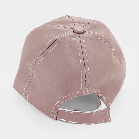 Faux Leather Dad Hat