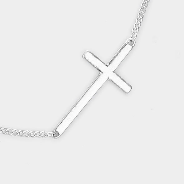 Metal Cross Necklace