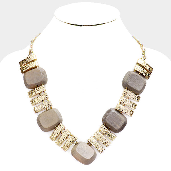 Wood Collar Necklace