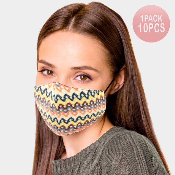 10PC Abstract Mask